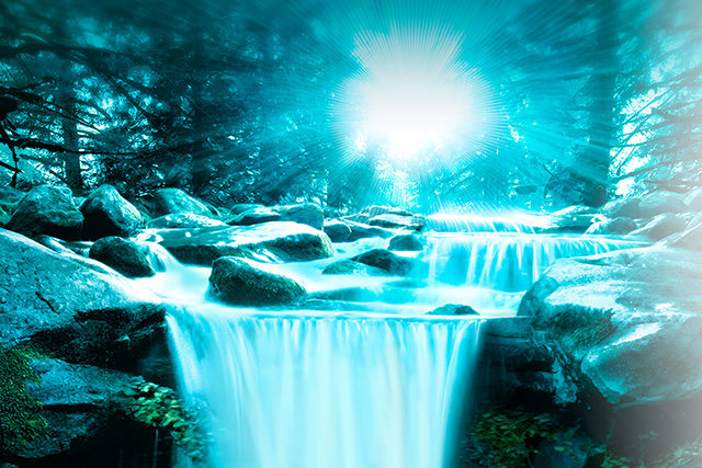 pure flowing water