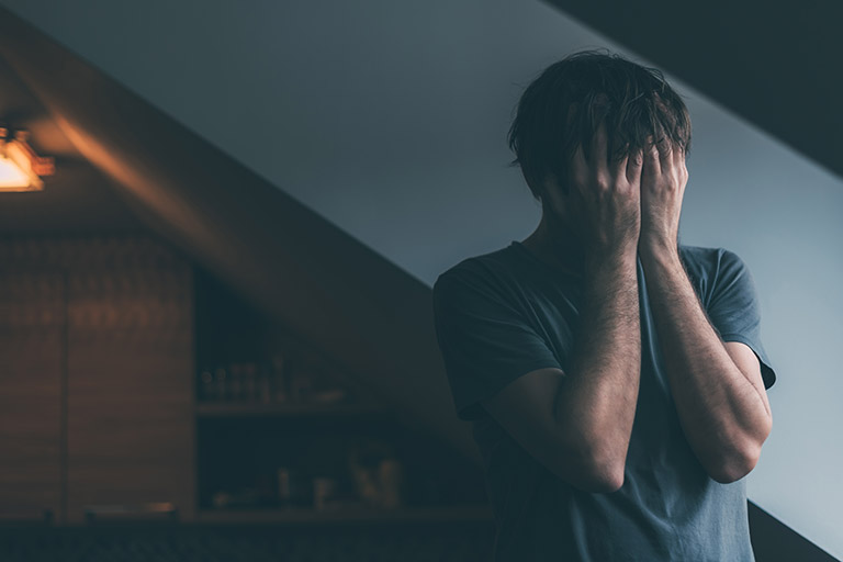 person in grief